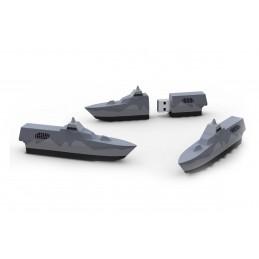 Gjutet USB-minne | Kockums | Korvetten VISBY