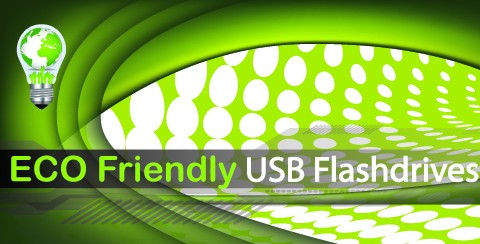 Eco friendly USB flashdrives